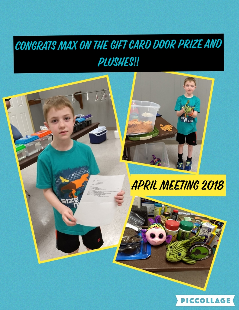 2018 April meeting Doorprize