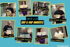 2018 April Meeting BAP and HAP Awards