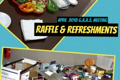 2018 April Meeting Raffle and Refreshments