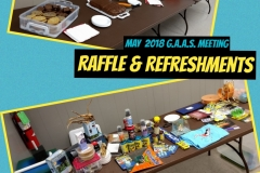 2018 GAAS May Raffle & Refreshments