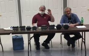 Ken McGill (left) and Dave Williamson oversee the Bowl Show.