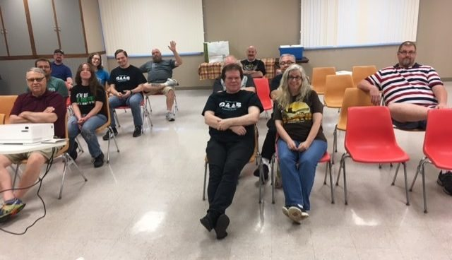 July 2021 meeting attendees, with speaker Eric Bodrock in the back row.
